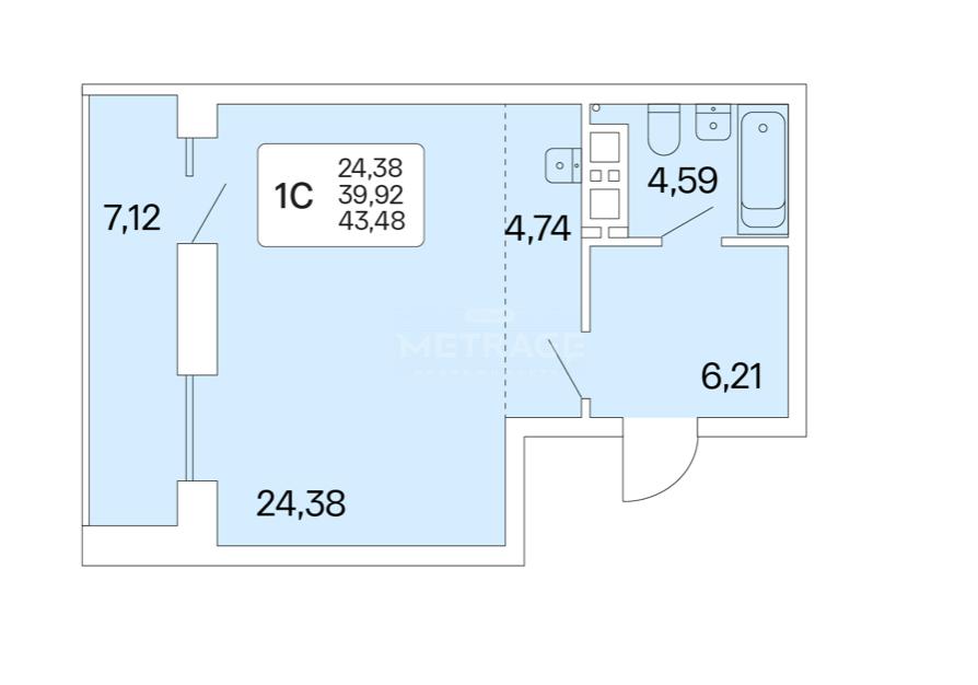 Новосибирск, Немировича-Данченко, 167/1, 1-комнатная квартира